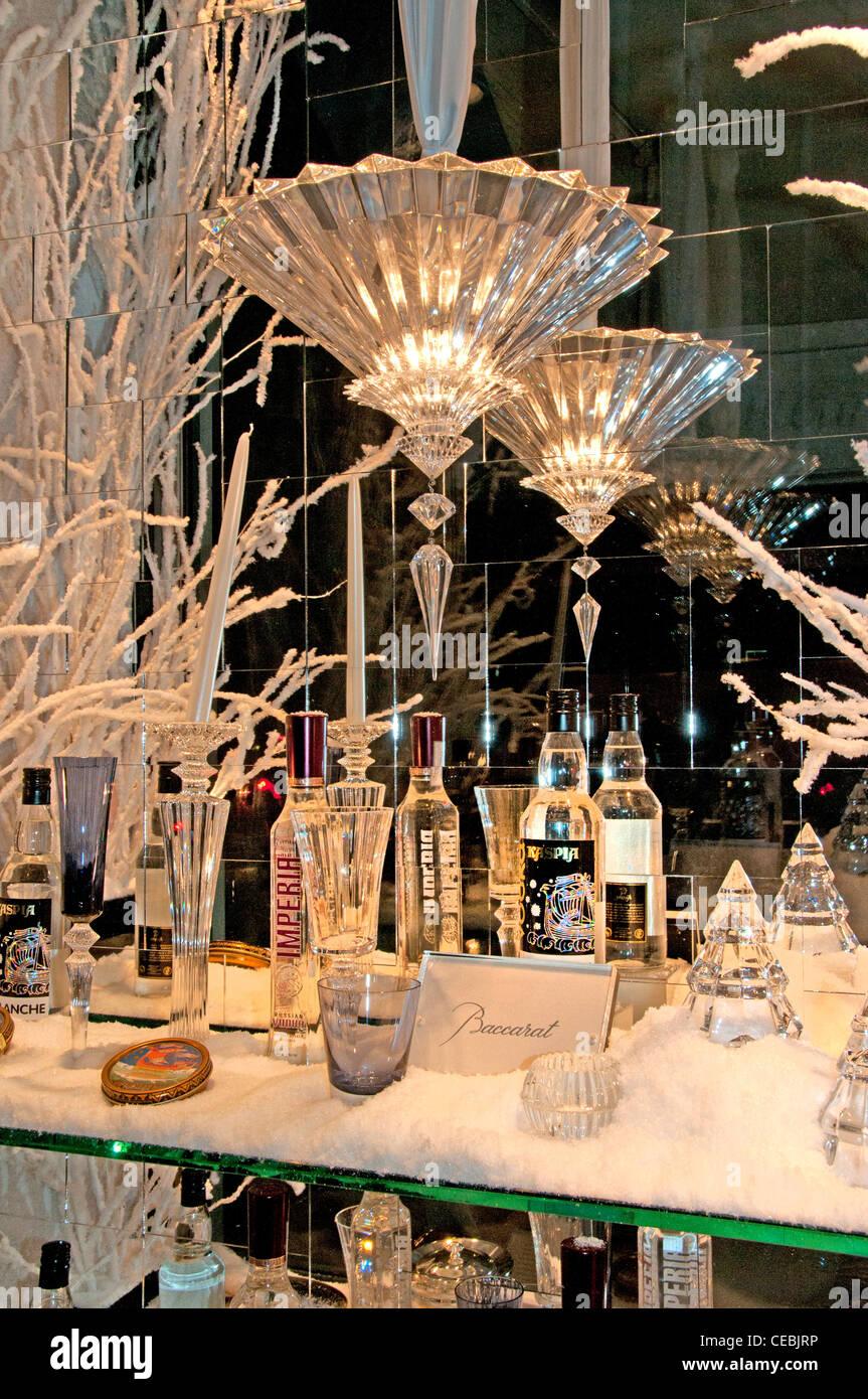 Baccarat Place de la Madeleine París Francia Francia los cristales de vidrio. Imagen De Stock