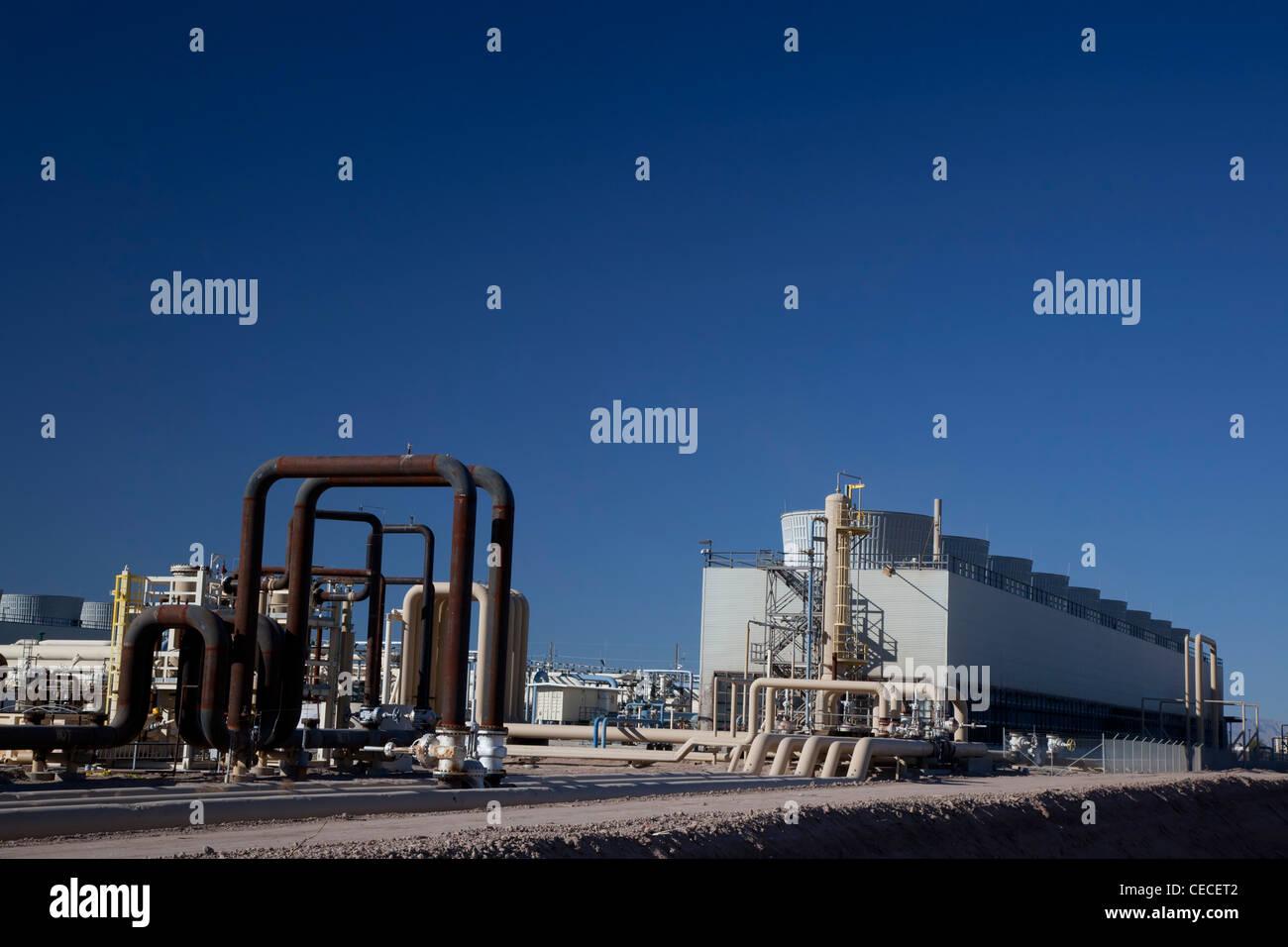 Instalaciones de Energía geotérmica Imagen De Stock
