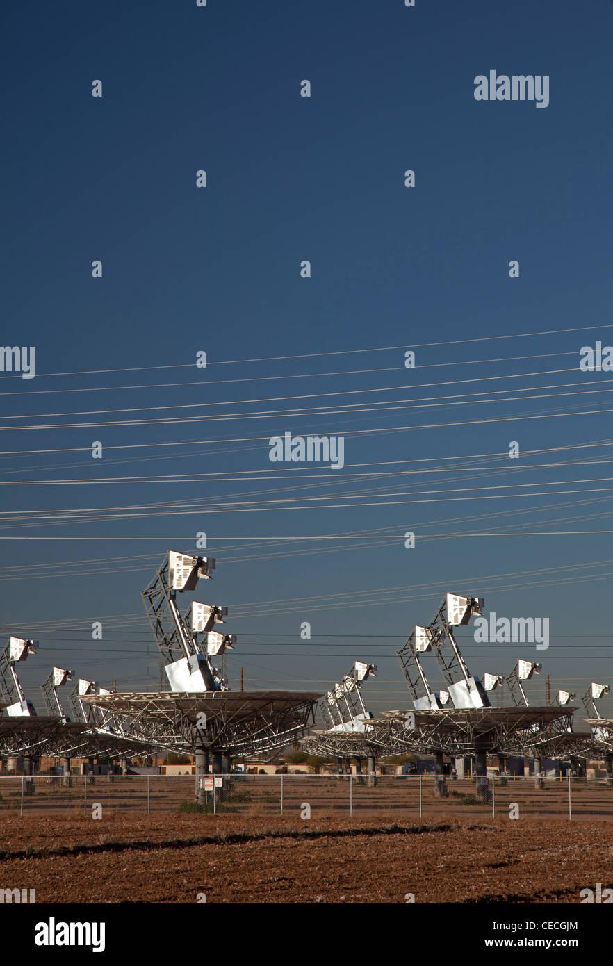 Planta eléctrica solar cerrado Imagen De Stock