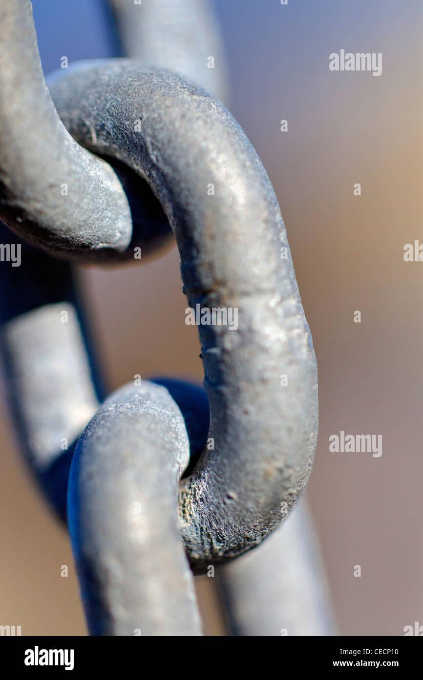 El eslabón de la cadena de cierre Imagen De Stock