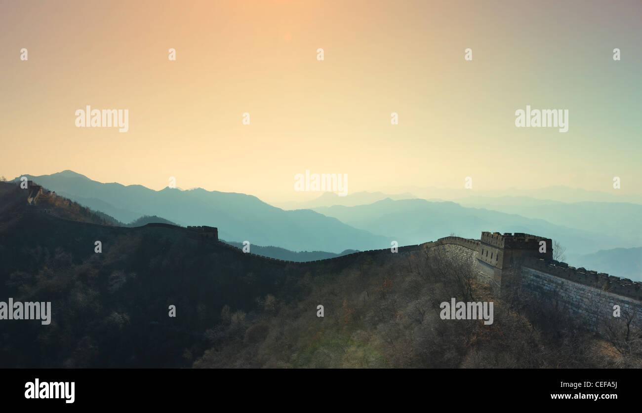 Gran Muralla Matianyu - Xian, China Foto de stock