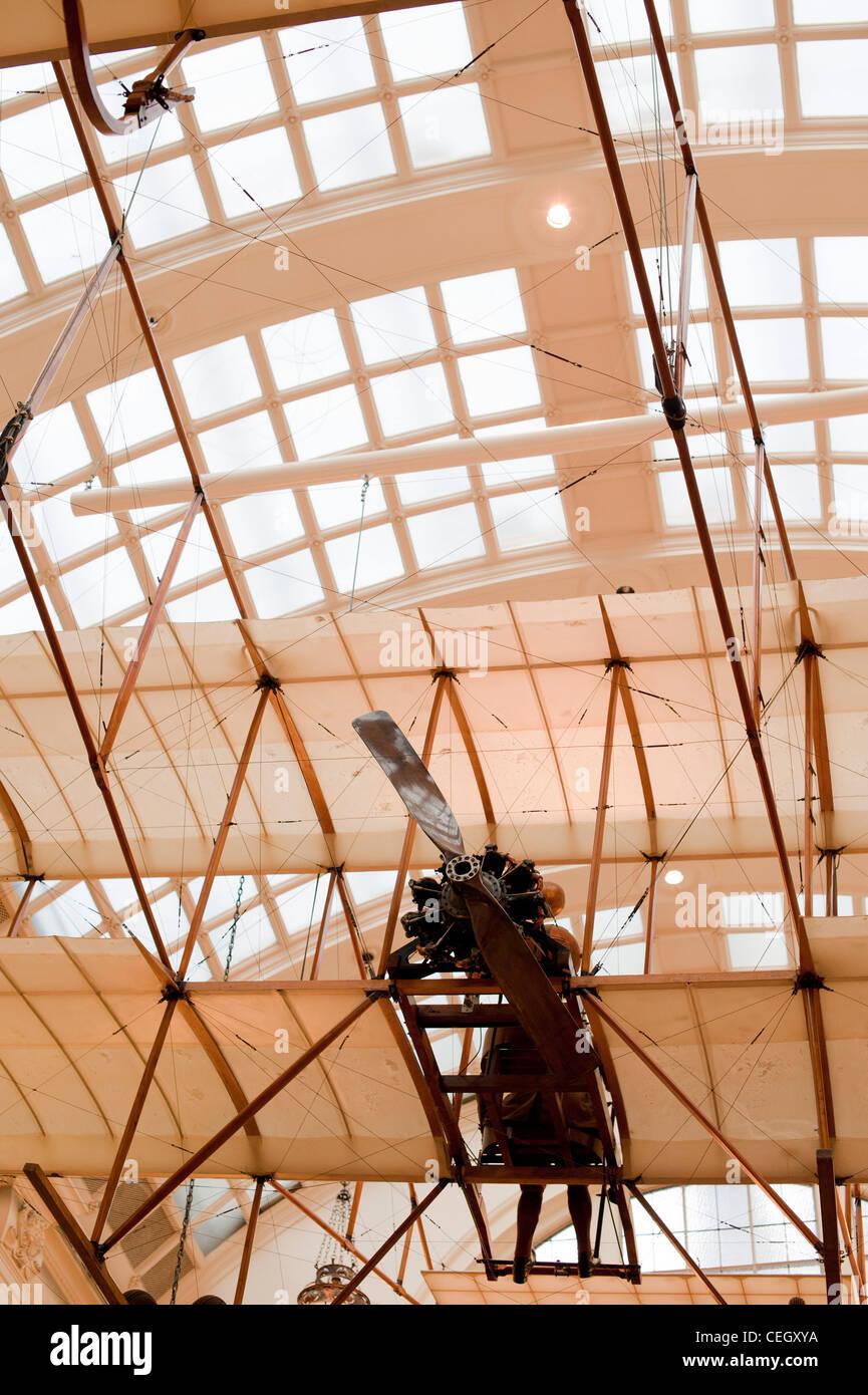 Un biplano Bristol réplica (también llamado Boxkite) Foto de stock