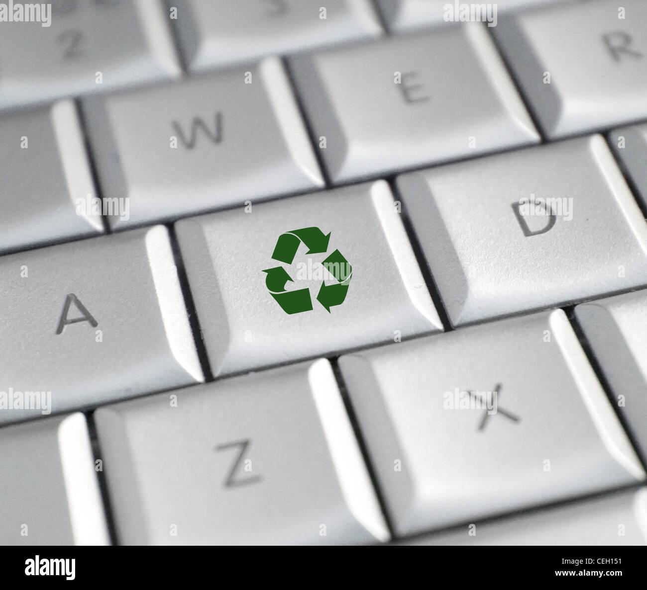 Reciclar la clave Imagen De Stock