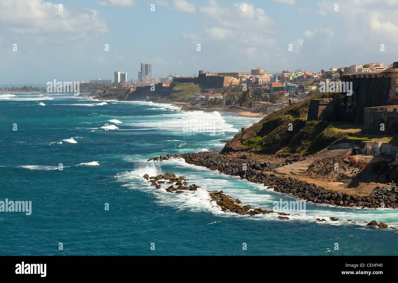 Litoral de San Juan, Puerto Rico Imagen De Stock
