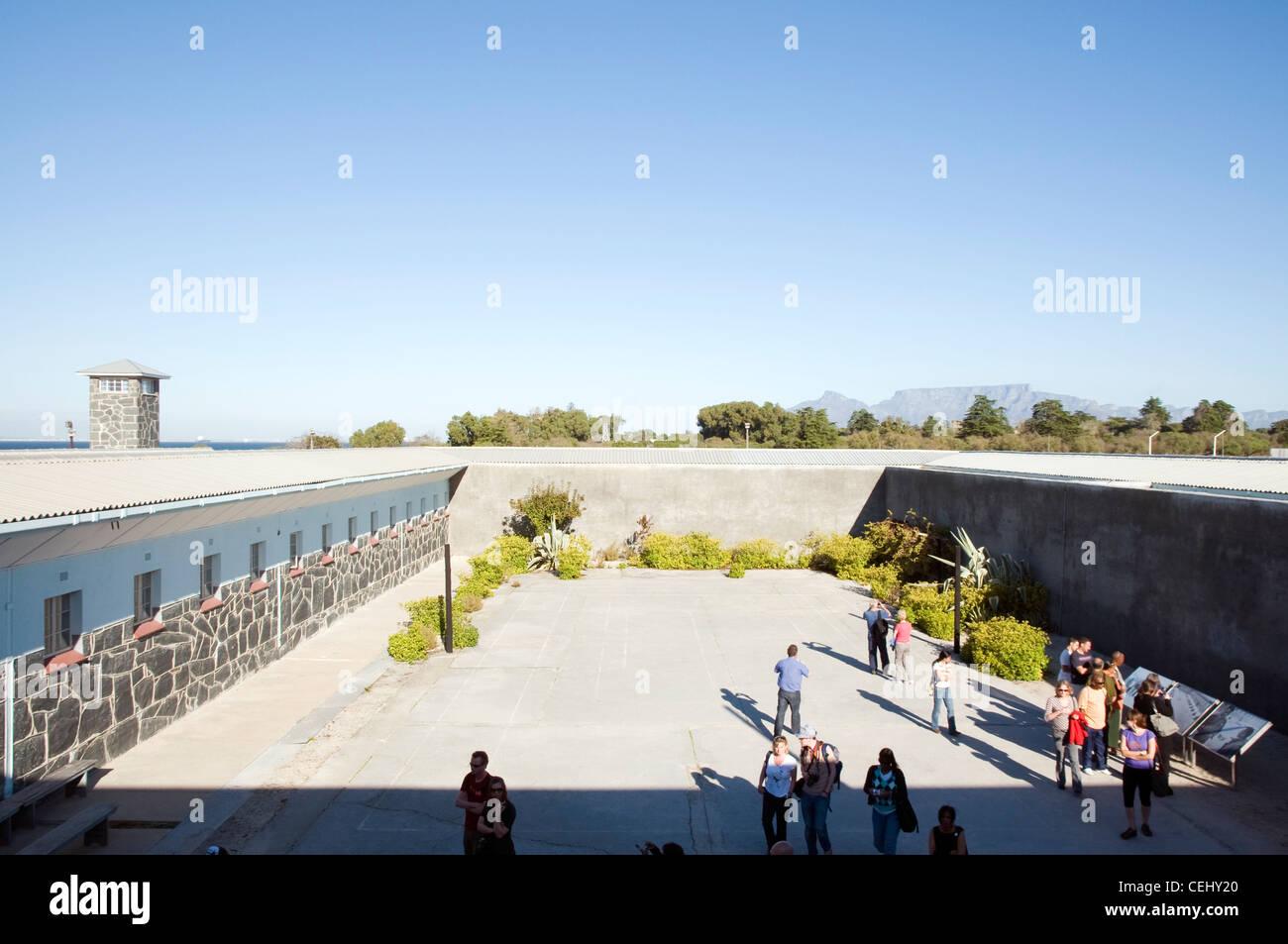 La cárcel Tour,Robben Island, Ciudad del Cabo, Western Cape Province Foto de stock