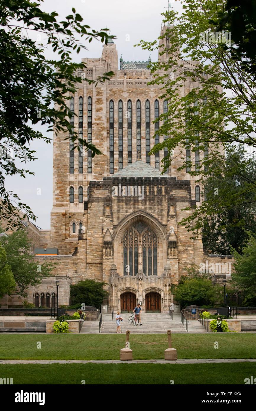 Sterling Memorial Library en la Universidad de Yale. Imagen De Stock