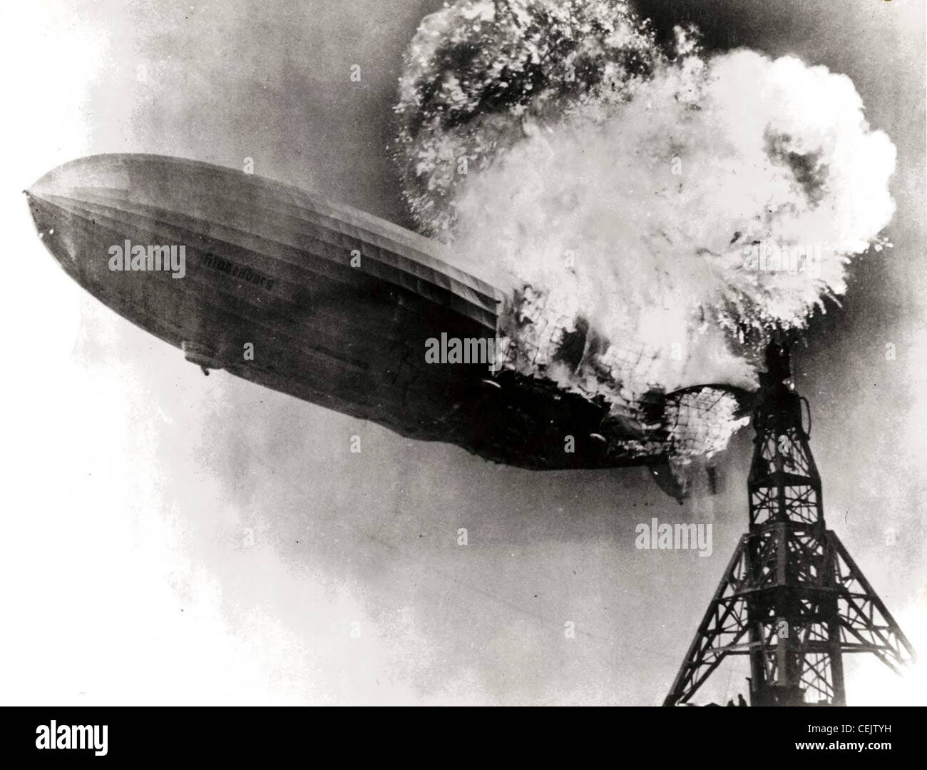 Desastre Hindenburg Foto de stock
