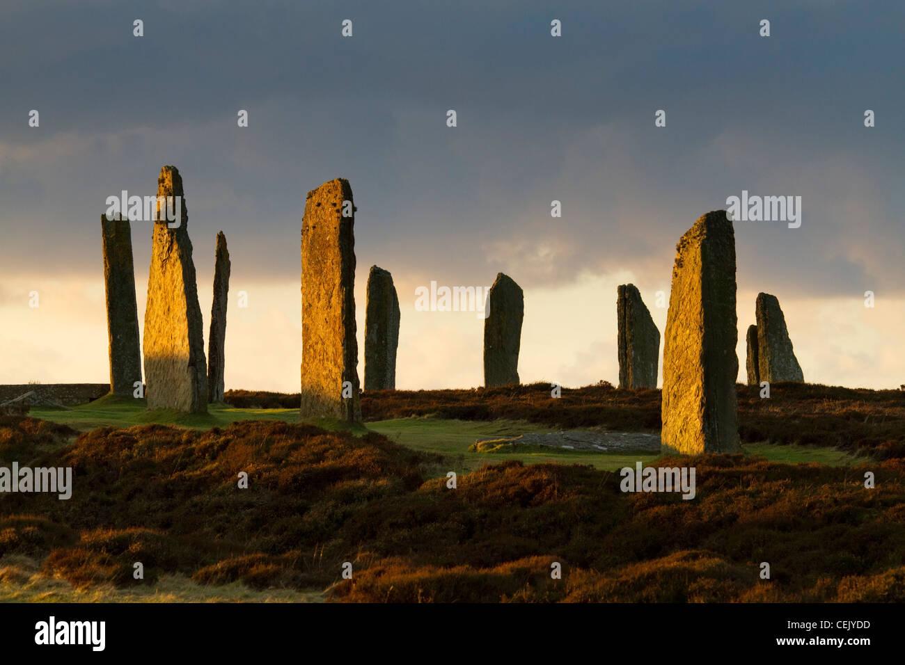 Anillo de Brodgar Stone Circle, Orkney Foto de stock