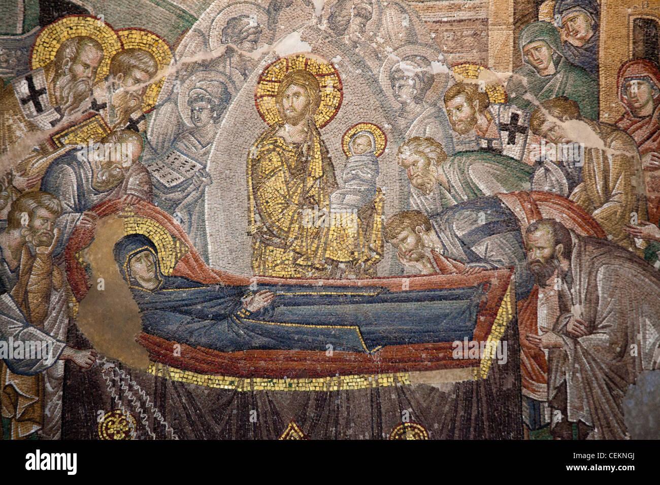 Turquía, Estambul, la Iglesia de Chora, Mosaico, la muerte de la Virgen  Fotografía de stock - Alamy
