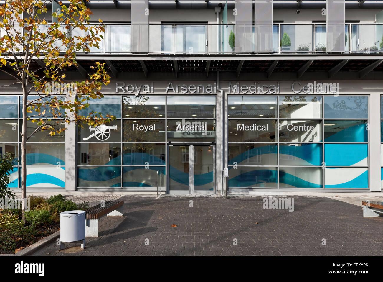 Arsenal Real Medical Center en Woolwich Imagen De Stock