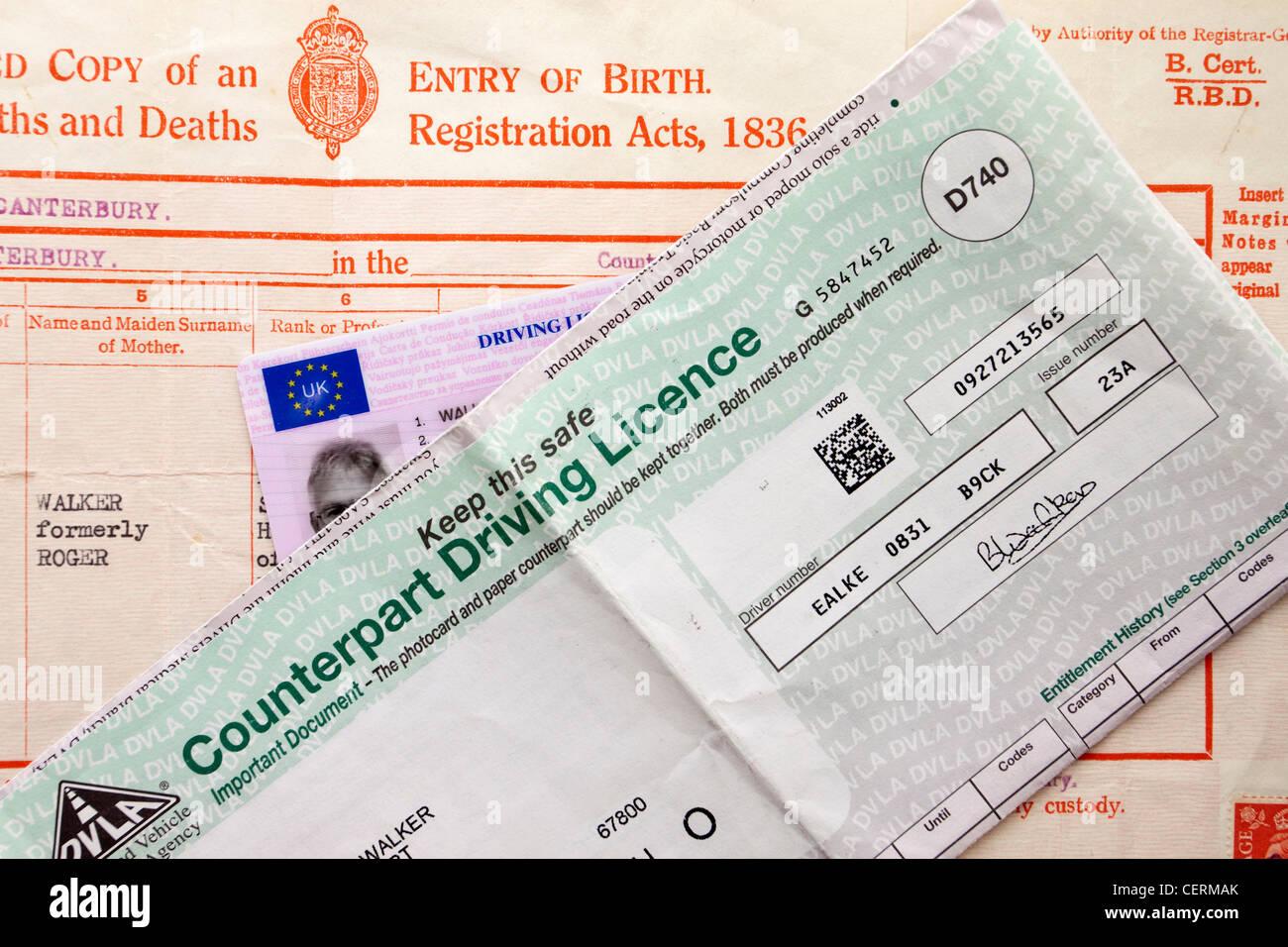 Uk Driving Licence Imágenes De Stock & Uk Driving Licence Fotos De ...