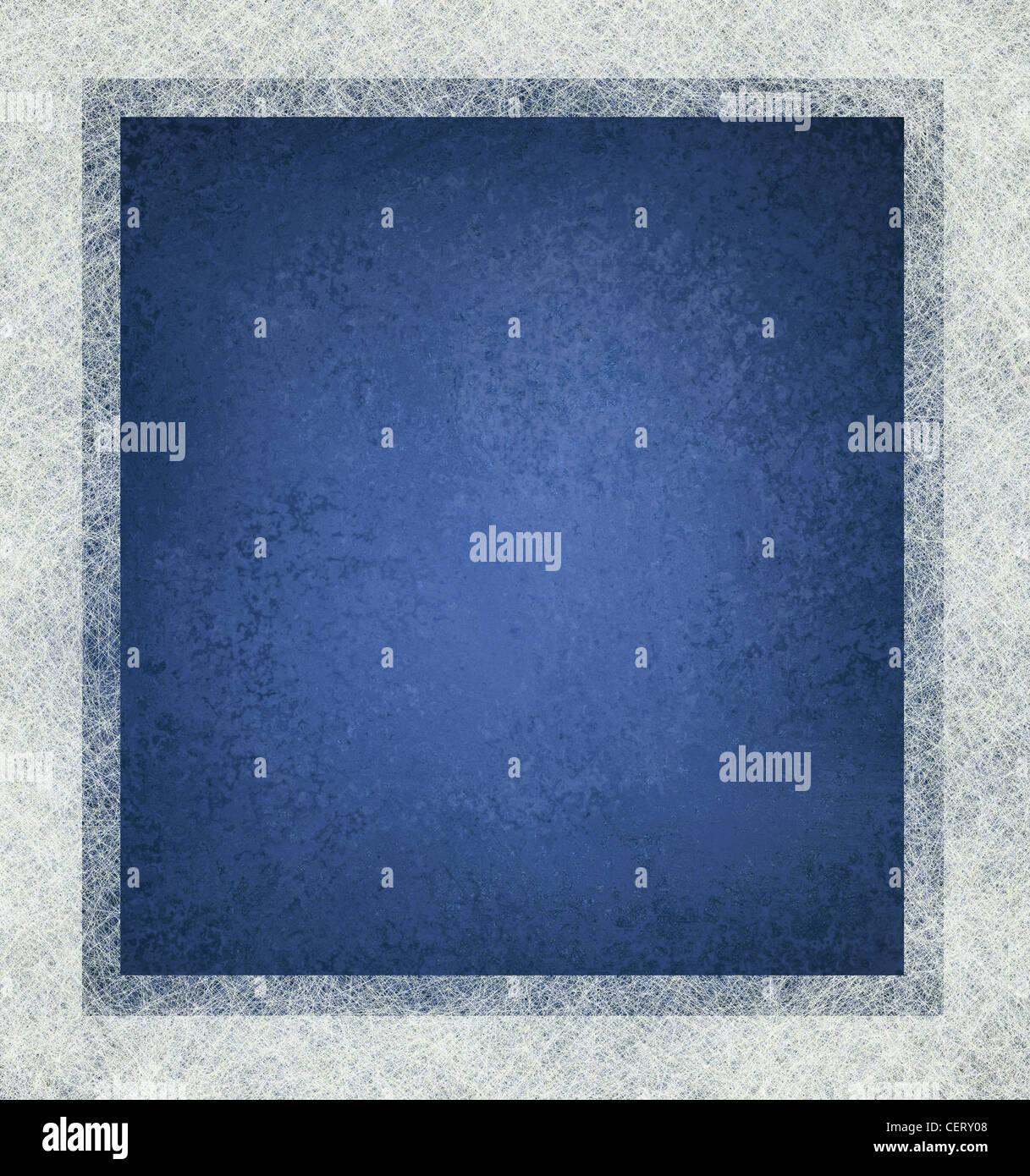 Fondo azul con marco blanco y mucha textura, diseño azul y blanco Imagen De Stock