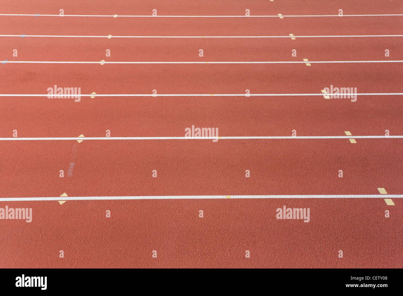 Carriles de la pista de atletismo Imagen De Stock