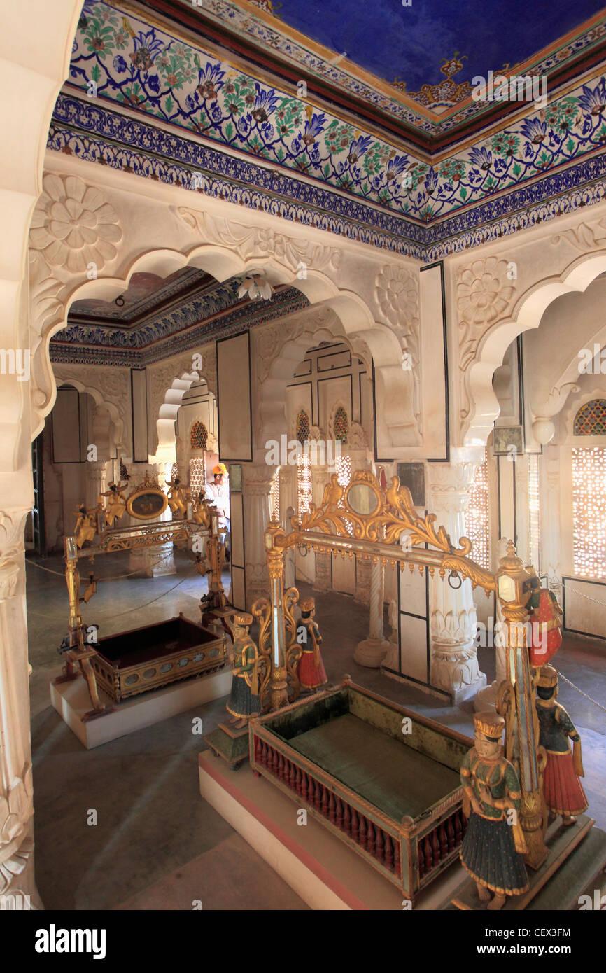 La India, Rajastán, Jodhpur, el fuerte Mehrangarh, cuna, Galería Imagen De Stock