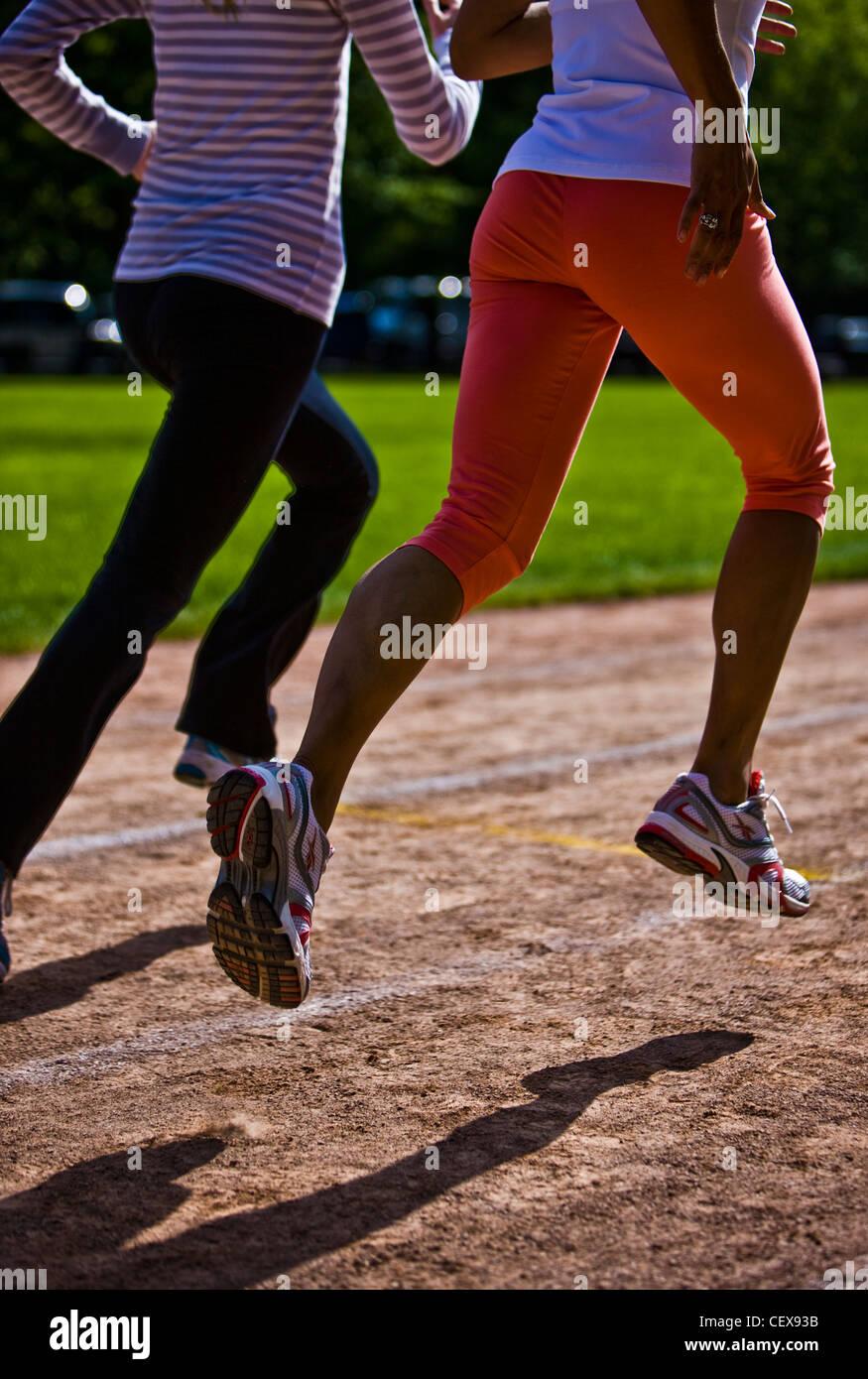 Los corredores de Regent's Park, pista de atletismo Imagen De Stock