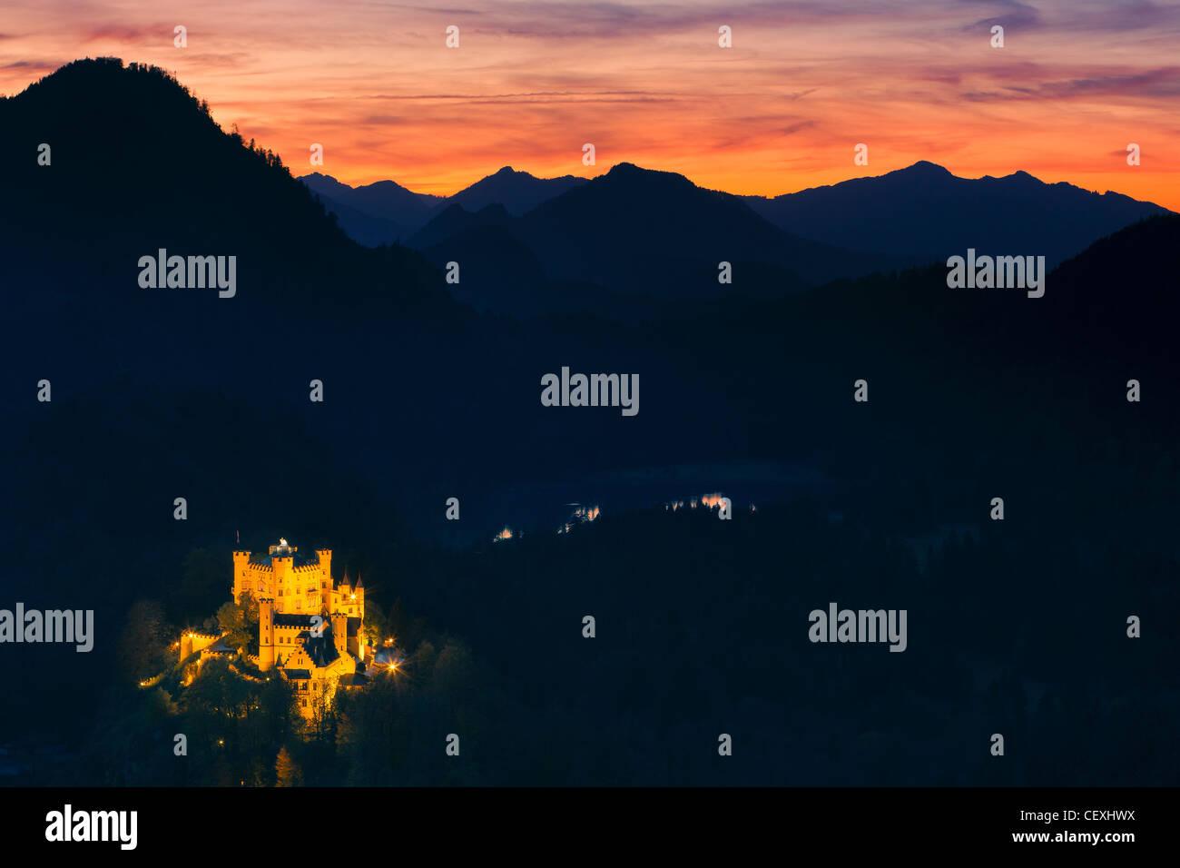 Castillo Hohenschwangau, Allgau, Baviera, Alemania Imagen De Stock