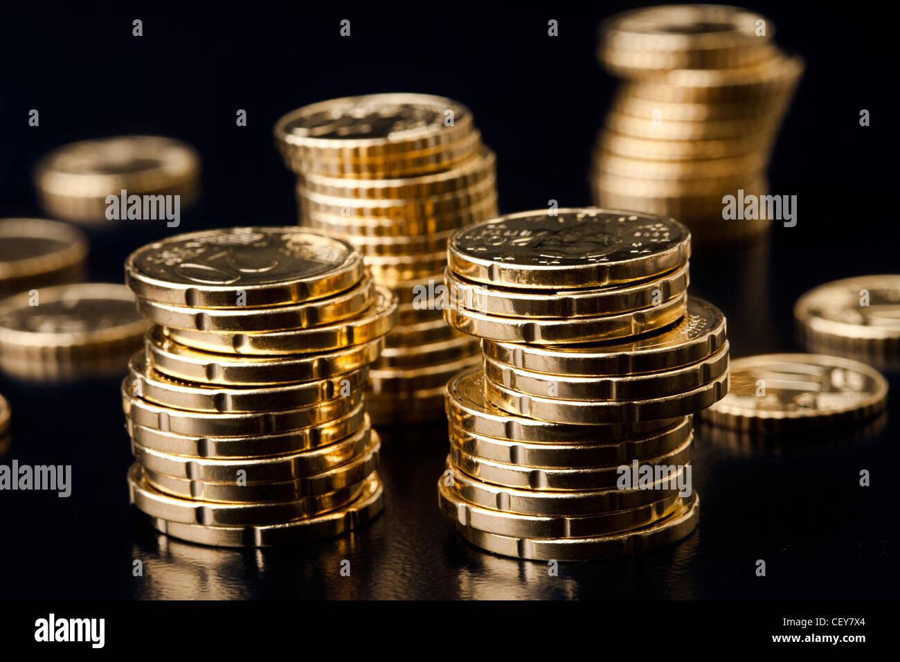 monedas de oro Imagen De Stock