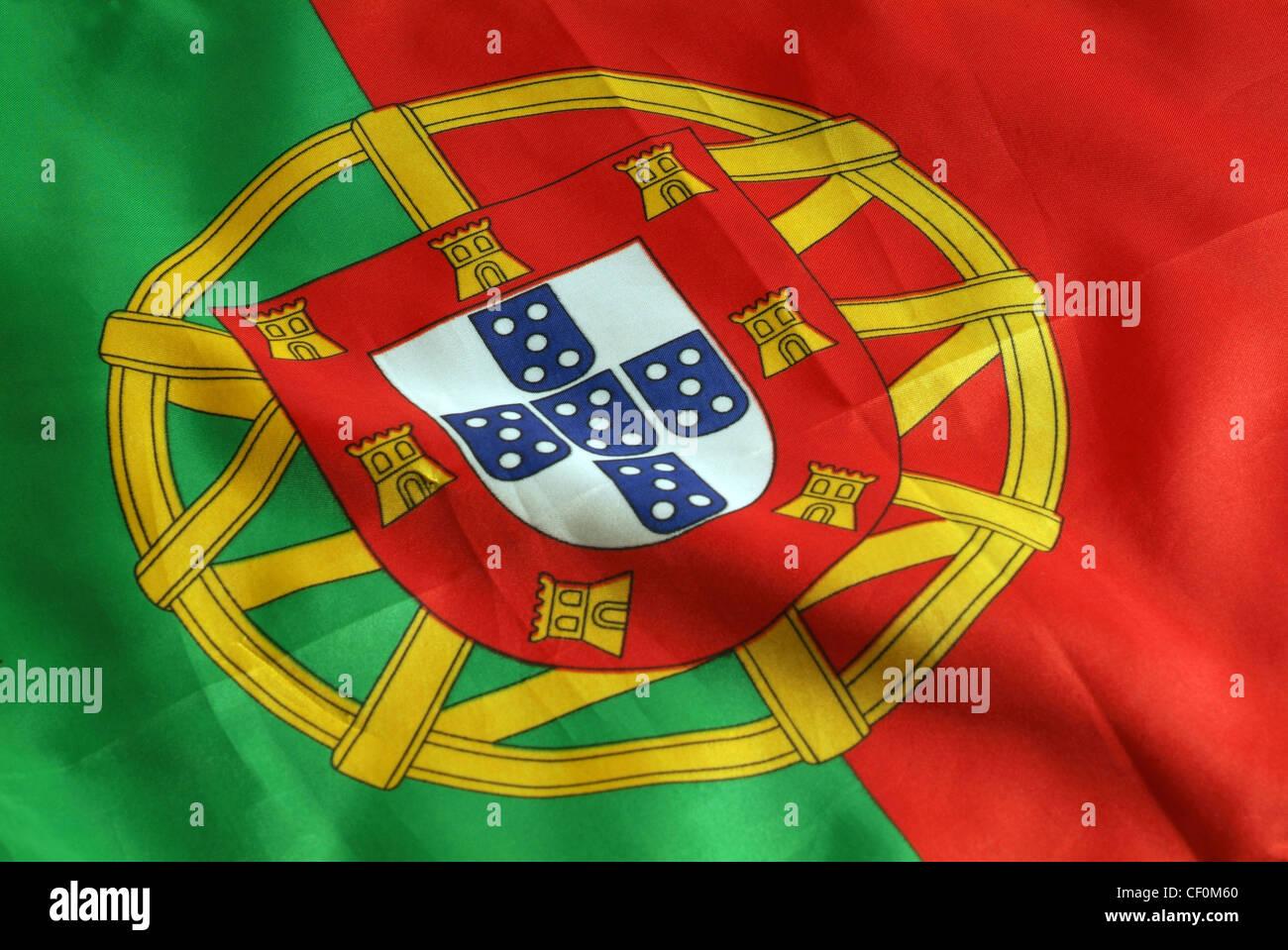 Bandera Portuguesa Foto de stock
