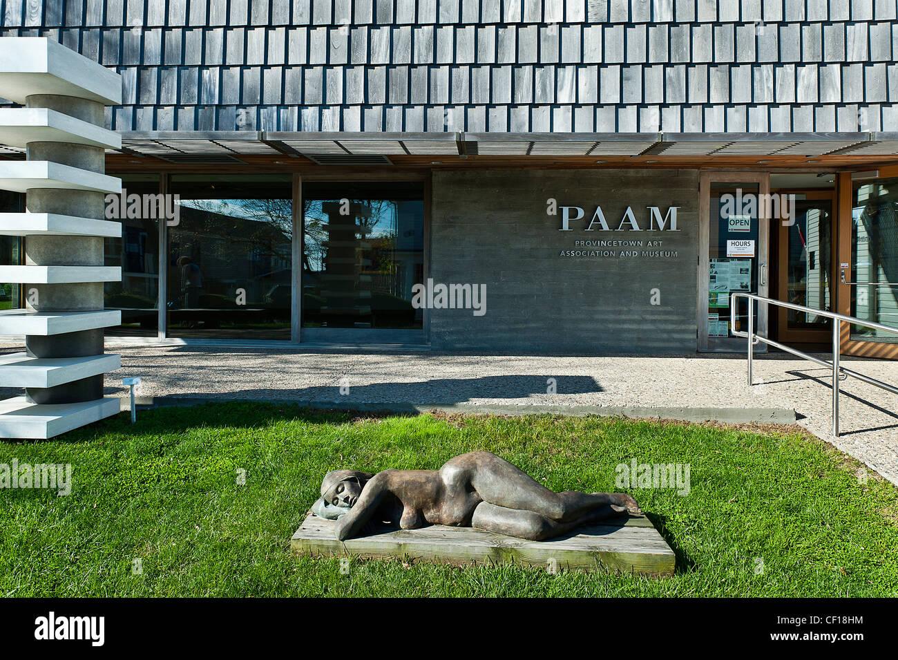 Provincetown Art Association y el museo, en Cape Cod, Massachusetts, EE.UU. Imagen De Stock
