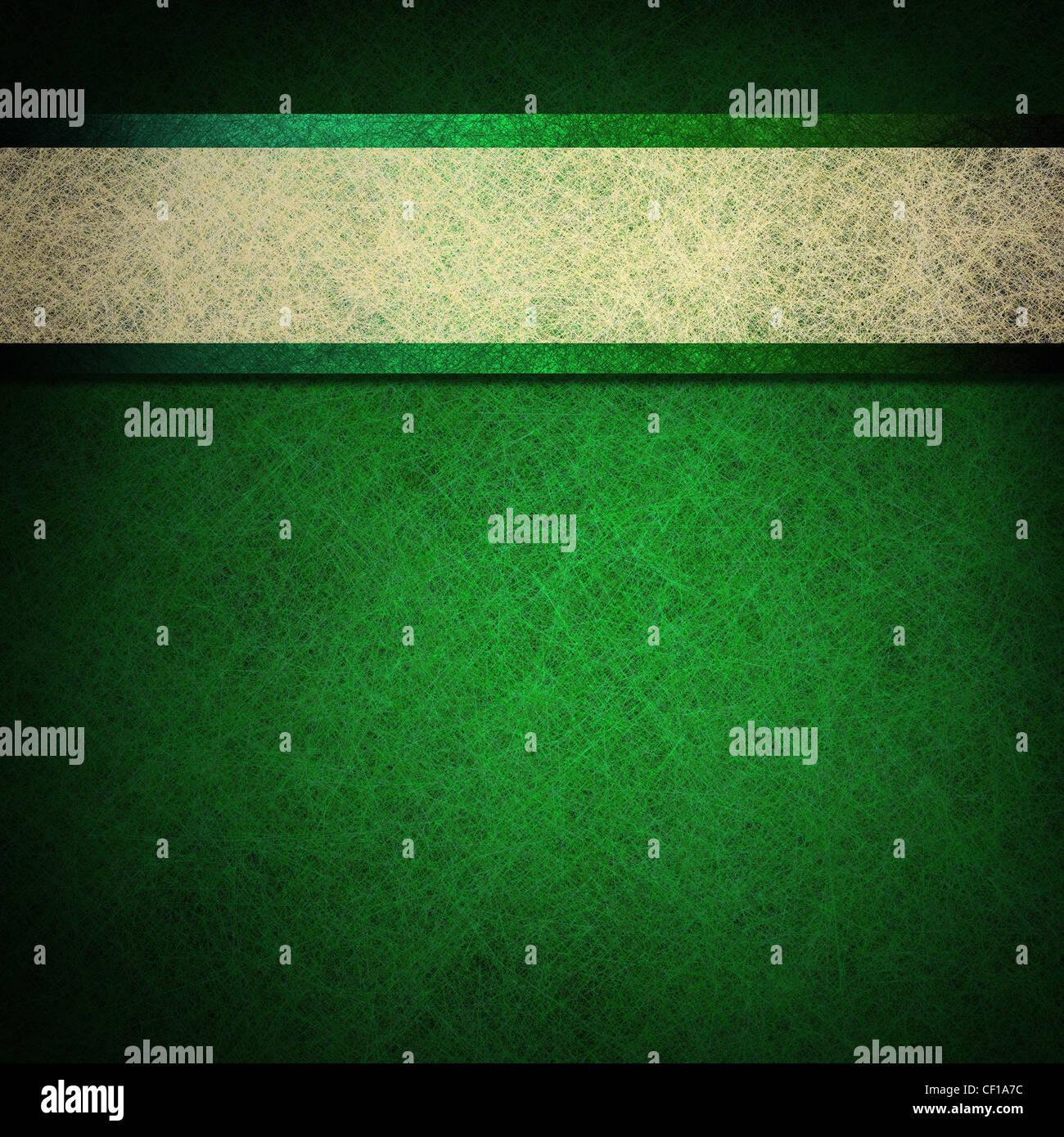 Verde y fondo blanco. Imagen De Stock
