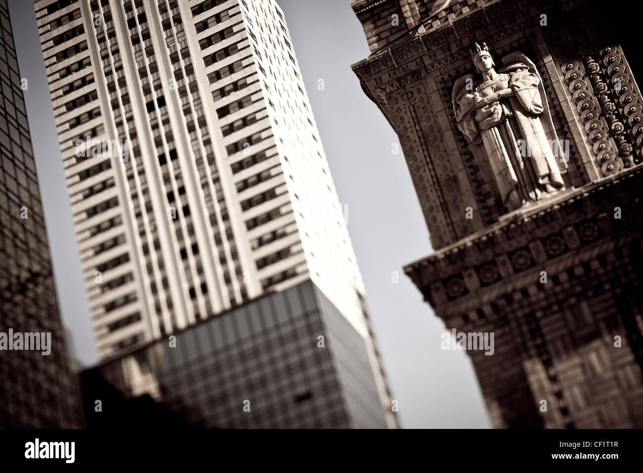 1930 La arquitectura Art Decó del edificio Chrysler, Nueva York, Estados Unidos de América Imagen De Stock
