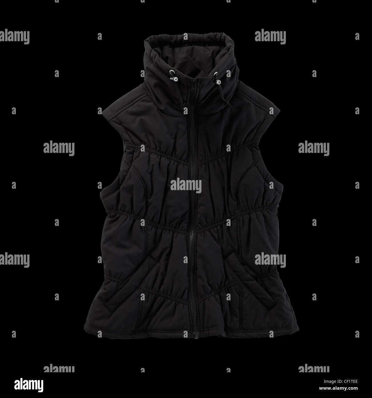 Un disparo de un bodegón puffer chaqueta sin mangas o gilet Imagen De Stock