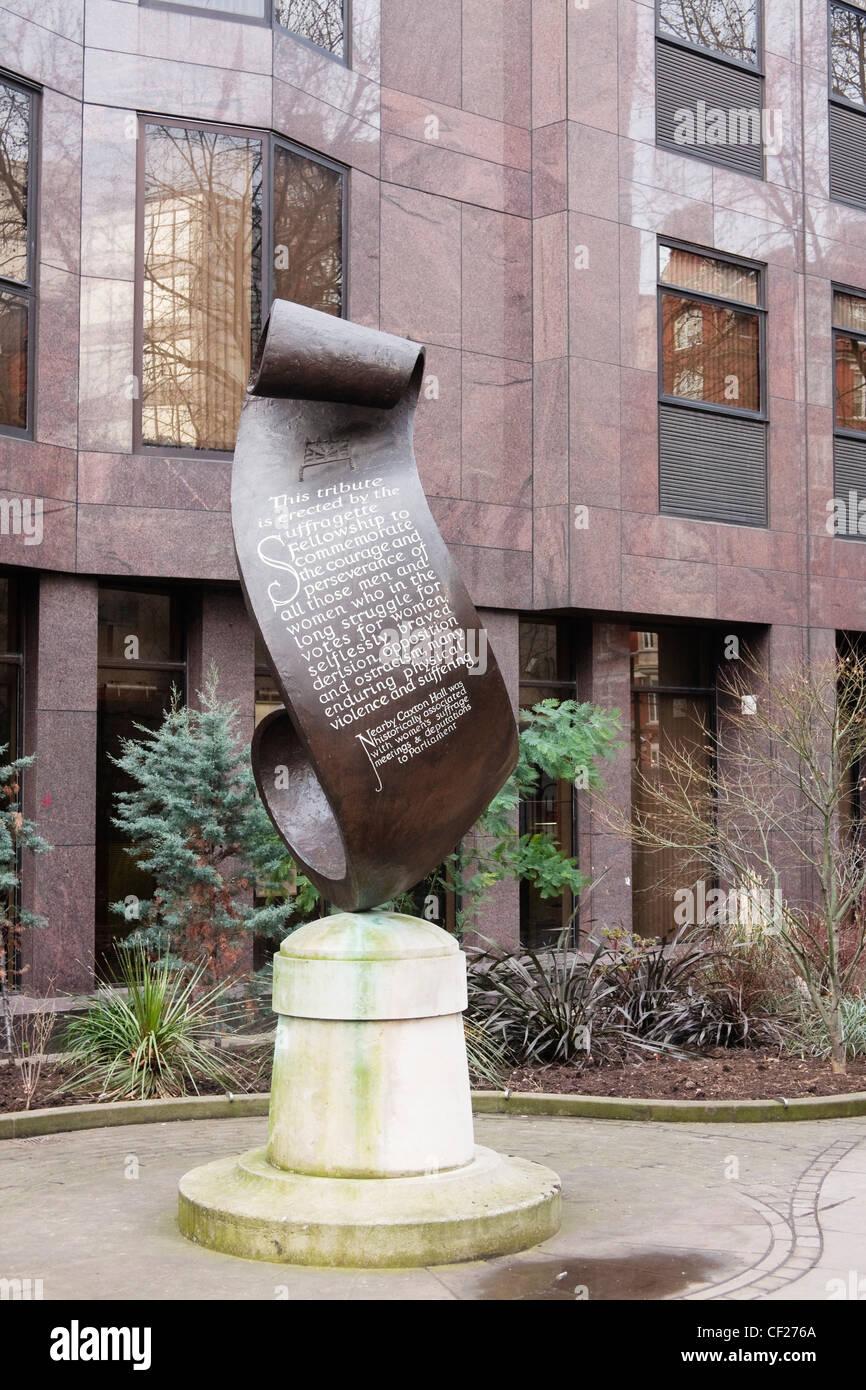 Suffragette Memorial Fellowship, Victoria, London, UK Imagen De Stock