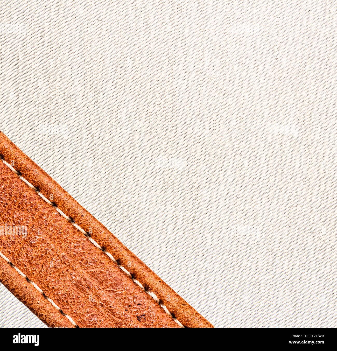 Imagen de fondo de cuero y textiles. Imagen De Stock