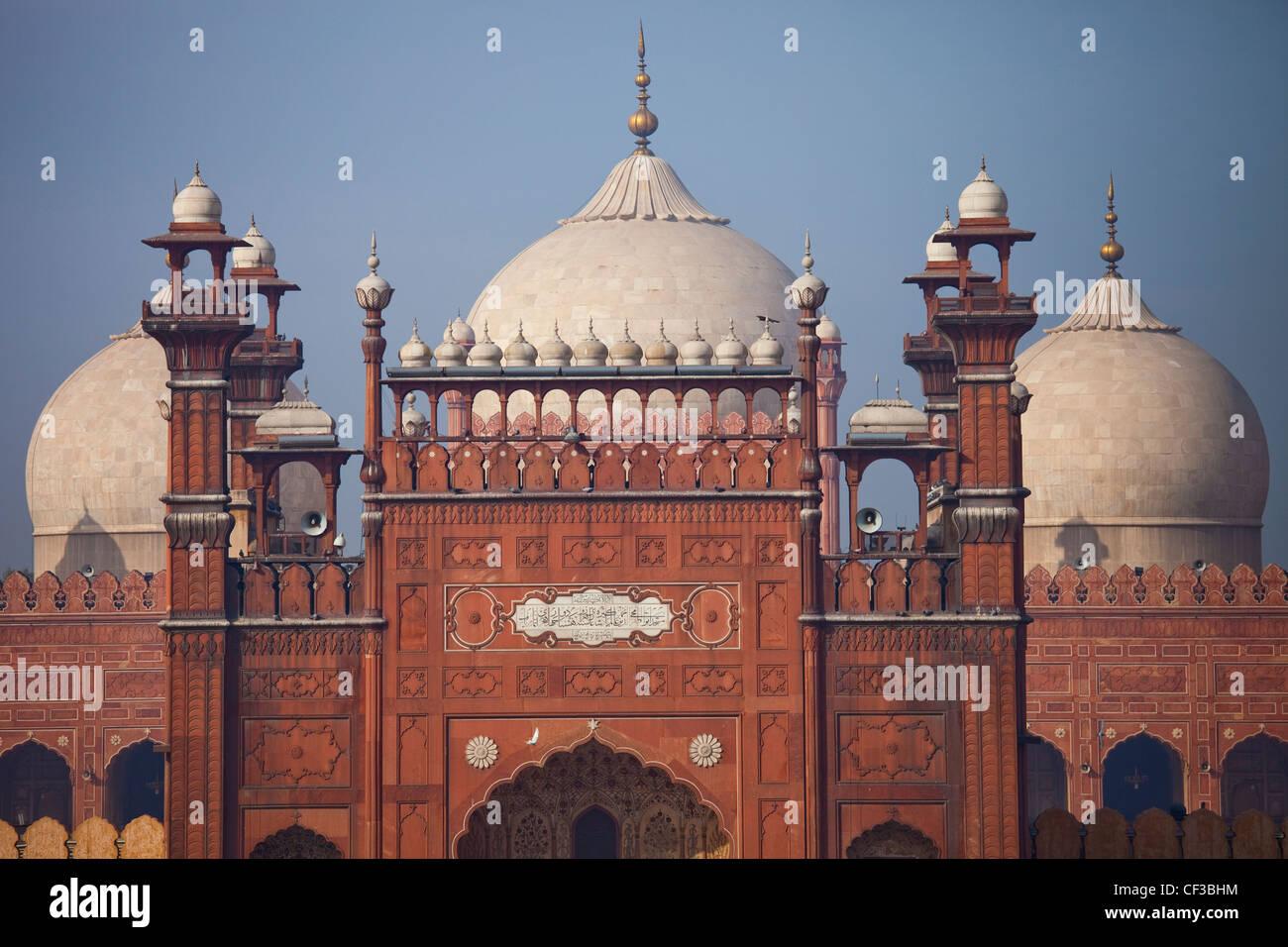 La Mezquita Badshahi, Lahore, Pakistán Foto de stock