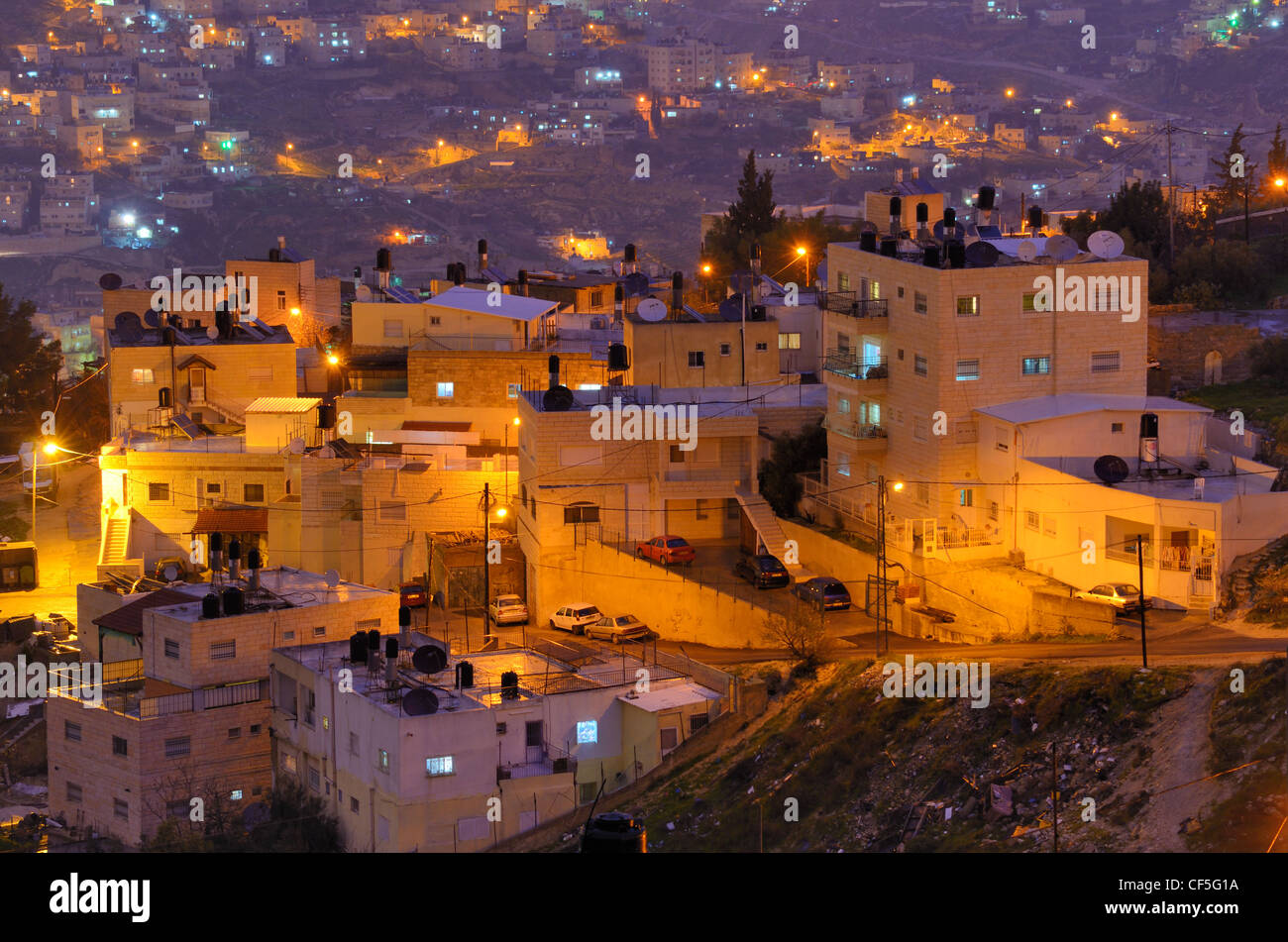 Aldea árabe en Jerusalén, Israel. Imagen De Stock