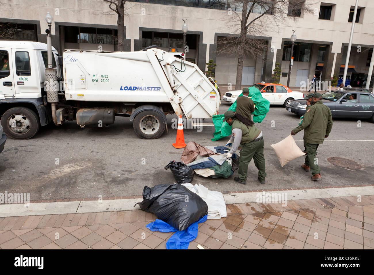 Los trabajadores de recolección de basura de la ciudad - Washington, DC, EE.UU. Imagen De Stock