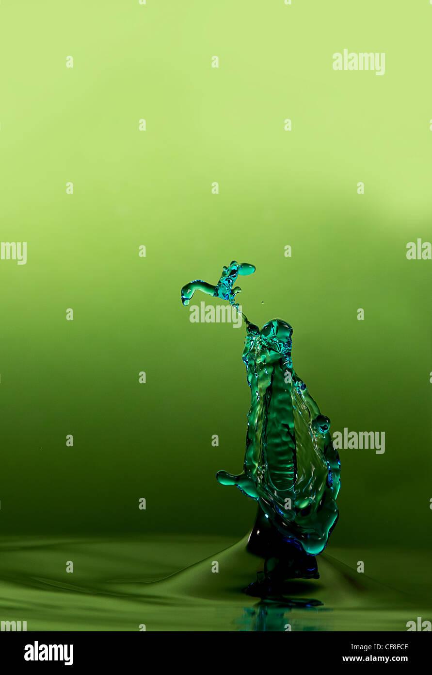 La gota de agua que parece un pez Imagen De Stock