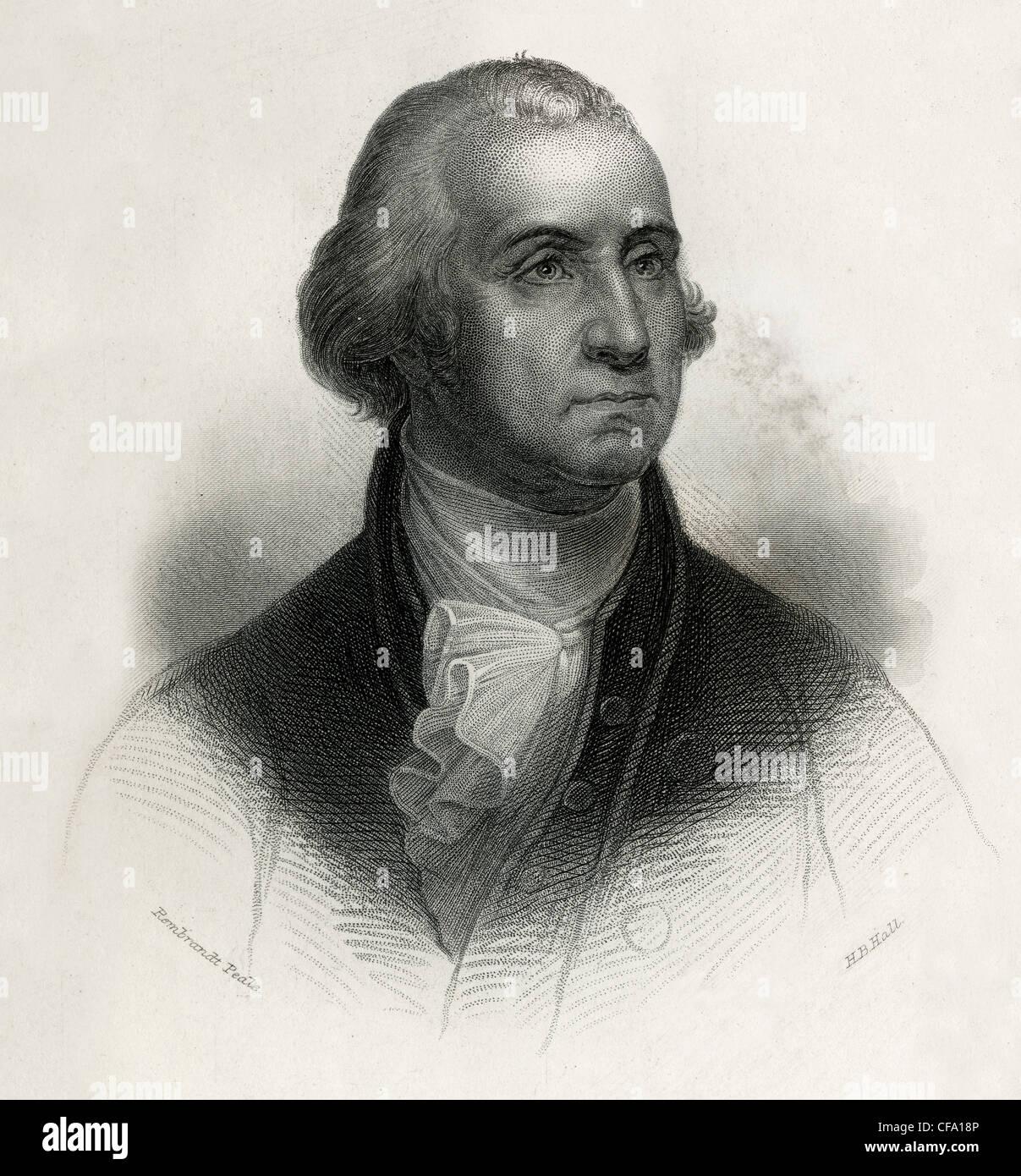 George Washington Engraving Imágenes De Stock & George Washington ...