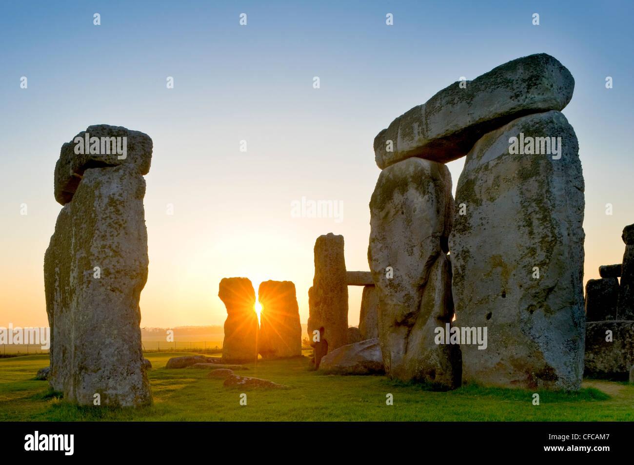 Stonehenge, cerca de Salisbury, Gran Bretaña Imagen De Stock