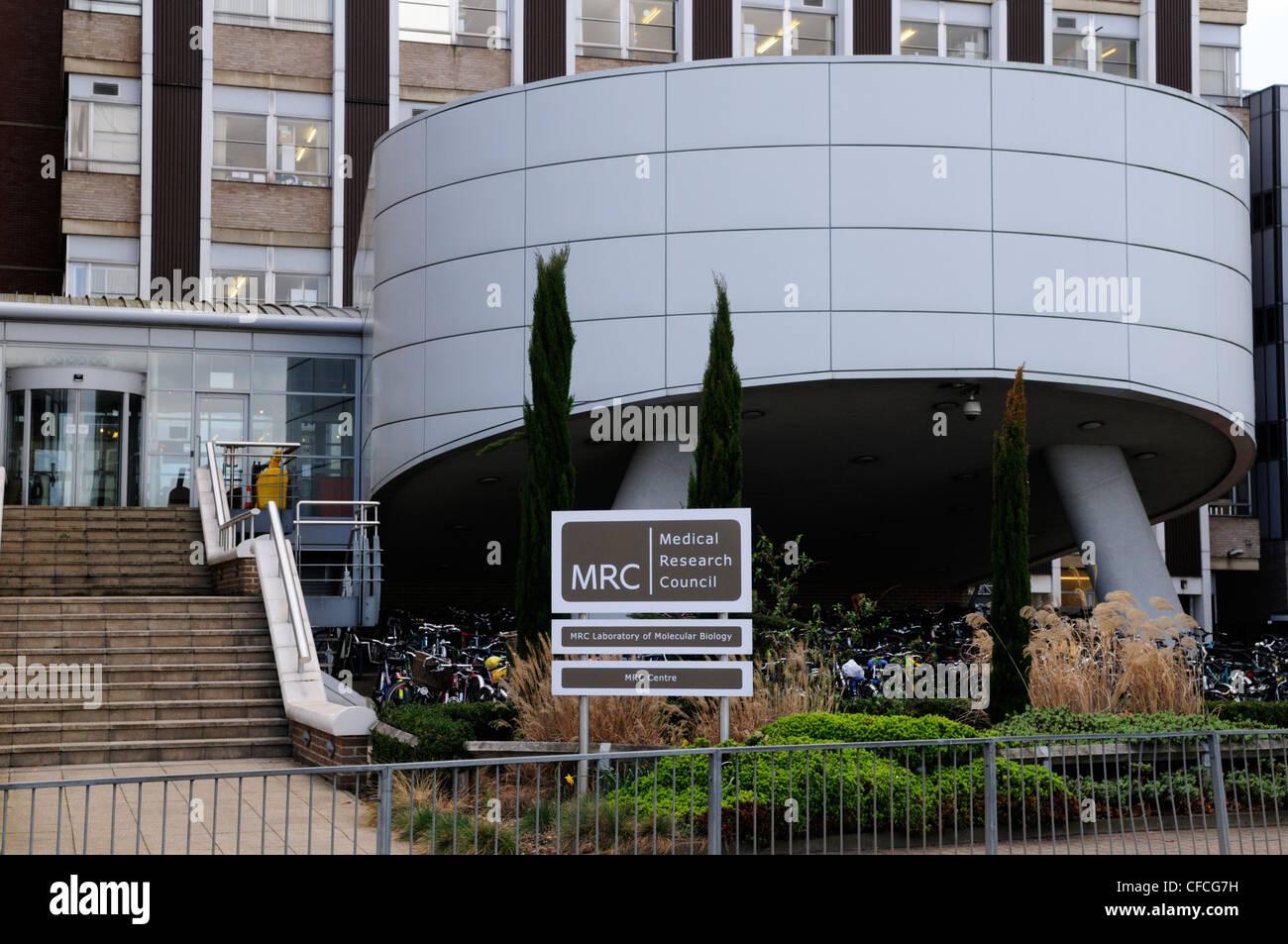 MRC Consejo de Investigaciones Médicas del Laboratorio de Biología Molecular, Addenbrookes Hospital Sitio, Imagen De Stock