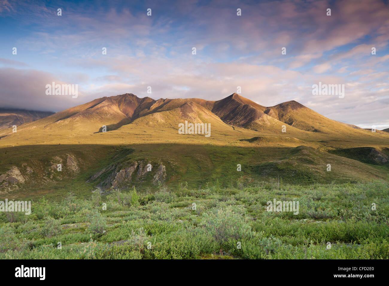En el rango de las montañas nubladas, visto desde el punto de vista de desecho en Tombstone Parque territorial Imagen De Stock