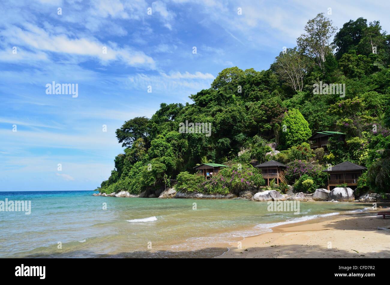 Playa de Salang, Pulau Tioman (la isla de Tioman), Pahang, Malasia, Sudeste Asiático, Asia Foto de stock