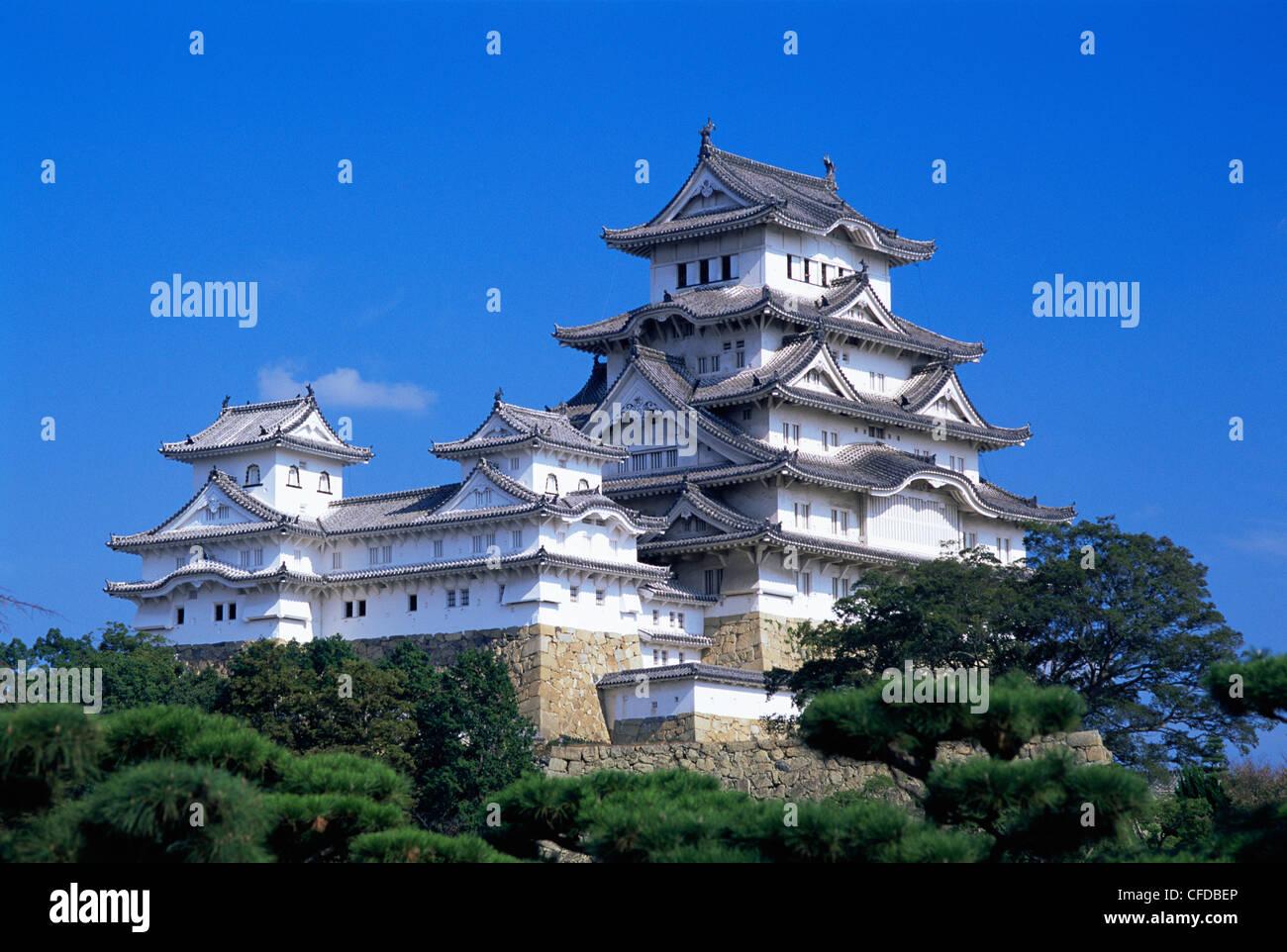 Japón, Honshu, Himeji, el Castillo de Himeji Imagen De Stock