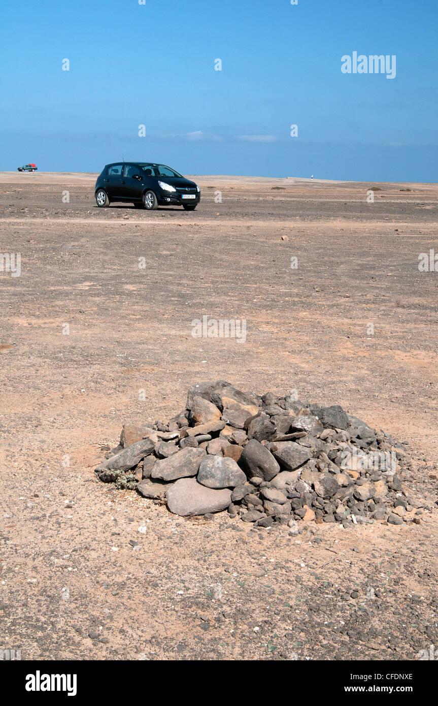 Ford corsa en el desierto Imagen De Stock