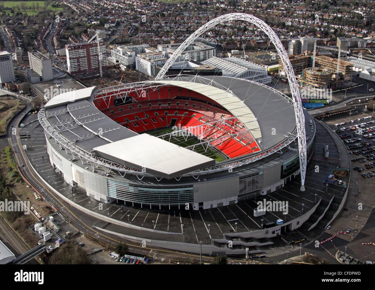 Imagen aérea del estadio de Wembley, Londres Foto de stock