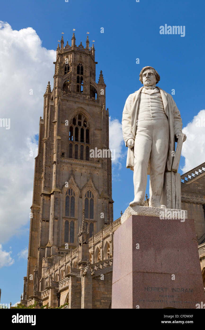 El Boston Stump, la Iglesia de San Bartolph Wormgate, Boston, Lincolnshire, Inglaterra, Reino Unido. Imagen De Stock