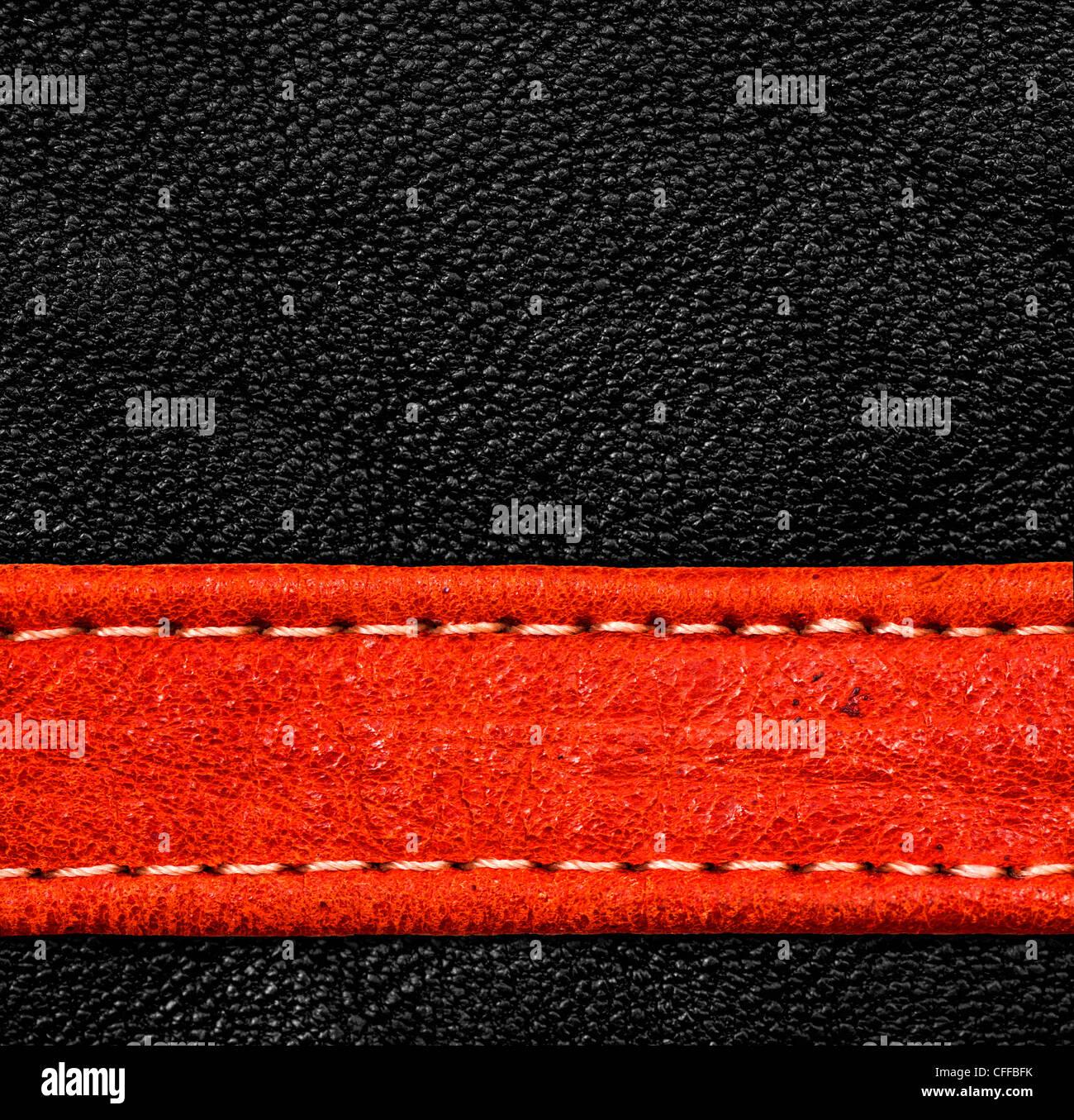 Una textura de cuero marrón. alta resolución. Foto de stock