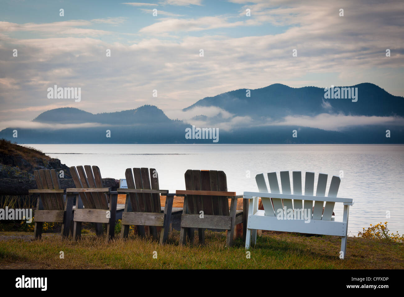 Doe Bay en la Isla Orca, la mayor de las Islas San Juan, en el estado de Washington Imagen De Stock