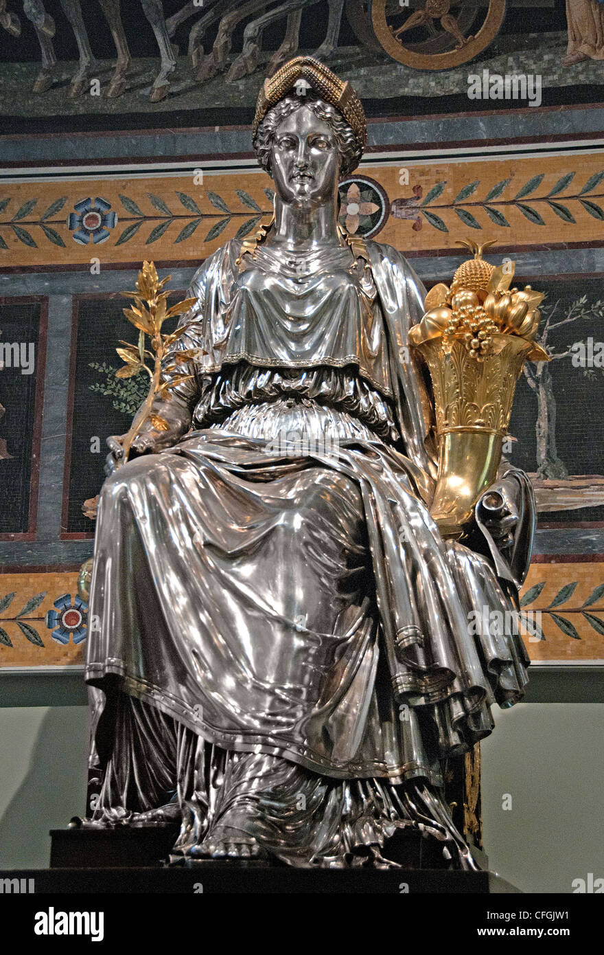 El genio del Emperador, controlando la Victoire, trae paz y abundancia por Francesco Belloni Francia Imagen De Stock