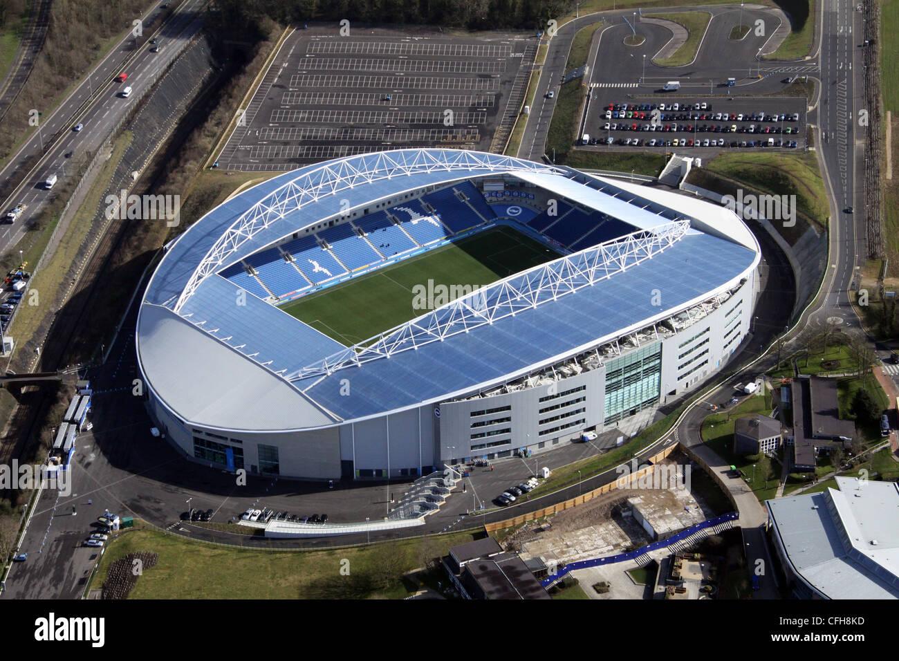 Vista aérea de Brighton & Hove Albion Football Stadium de Amex Imagen De Stock