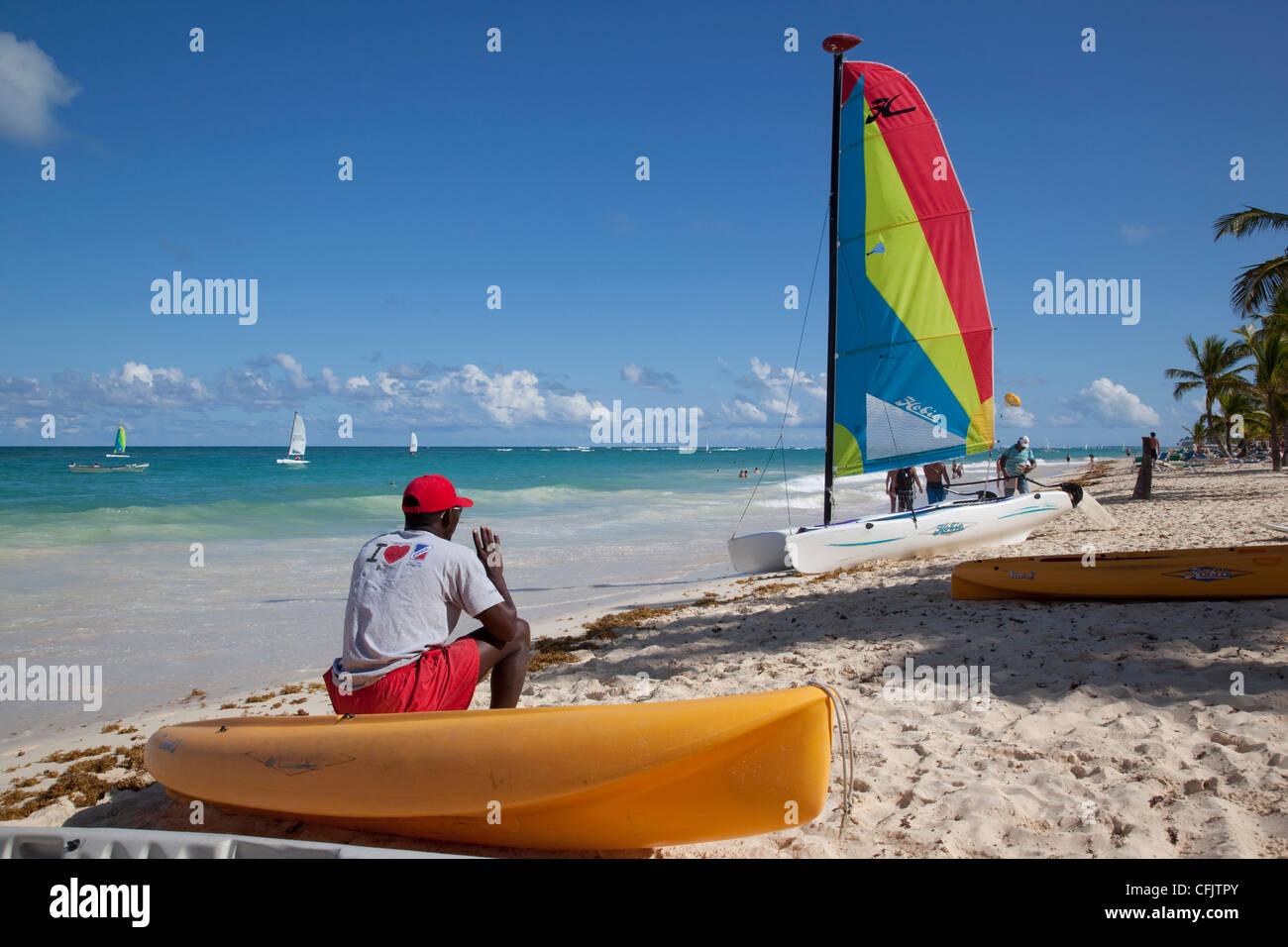 Playa Bávaro, Punta Cana, República Dominicana, Antillas, Caribe, América Central Imagen De Stock