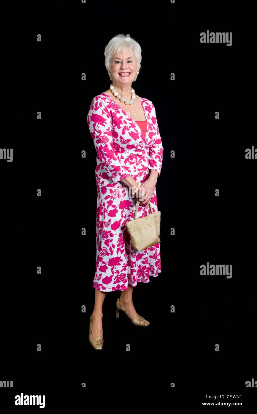 Old Senior Elegant Smart Woman Female Imágenes De Stock & Old Senior ...