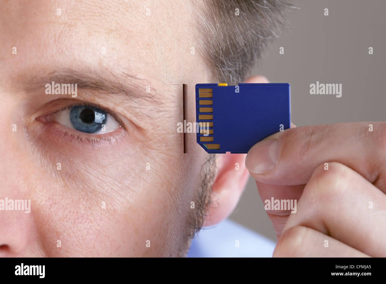 Actualización de la memoria y el cerebro Imagen De Stock