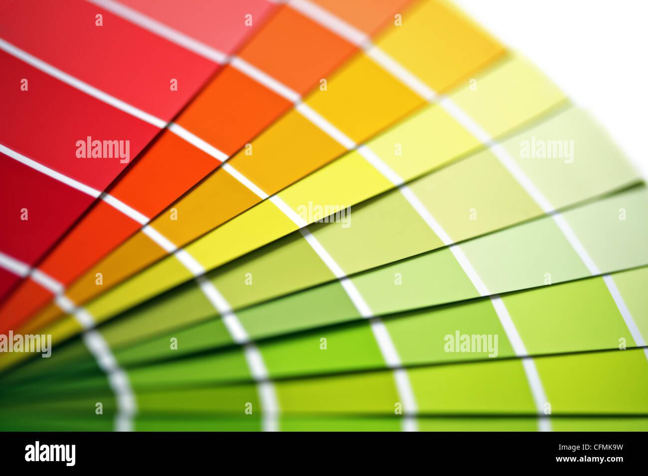 Muestras de color Imagen De Stock