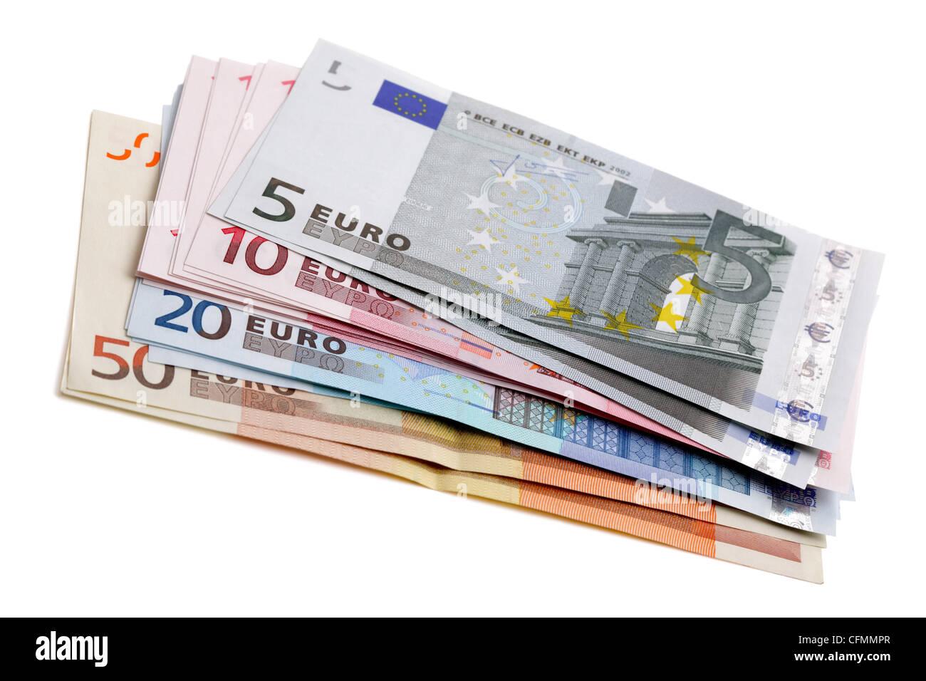 Moneda europea Foto de stock